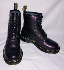 DR MARTENS 1460 Boots Metallic Purple Shimmer Size 5 (UK) *EXCELLENT CONDITION*