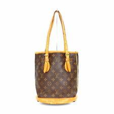 Louis Vuitton Hand Shoulder Hand Tote Bag Bucket PM M42238 Monogram Brown Used