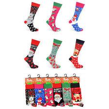 Womens Christmas Novelty Socks 6 Designs Size 4-7 Xmas Gift Present Secret Santa Let It Snow