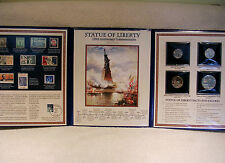 Statue of Liberty 125th Anniversary Postal Commemorative Coin & Stamp Collection