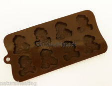 8 cell SMALL Santa Teddies Christmas Chocolate Silicone Bakeware Mould Candy
