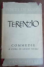 TERENZIO - POETI DI ROMA - COMMEDIE  A CURA DI G. VITALI - ZANICHELLI 1959
