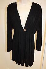0678832121 NWT J. Valdi Swimsuit Cover Up Dress Size M BLK