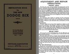 Dodge Six 1936 - Instruction Book for The New Dodge Six (For Cars After Serial N