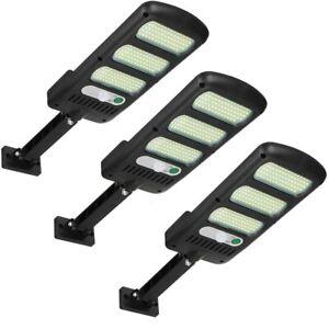 3X  lampione stradale pannello solare fotovoltaico sensore di movimento 213 LED