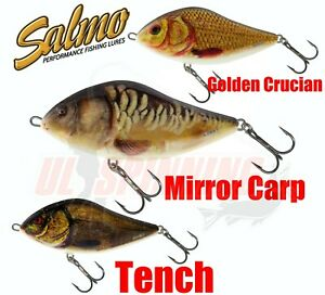New Salmo Fishing Lures SLIDER Jerkbait All Models Colours Glider Jerk Bait Pike