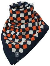 Cafe Racer Motorcycle Retro Neck Scarf Bandanna Blue Orange Design