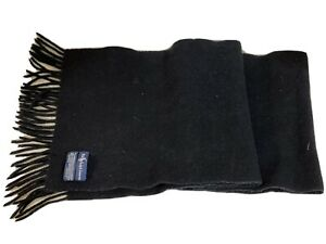 Polo Ralph Lauren Men's Black Wool Cashmere Classic Scarf