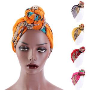 Women Muslim Stretch Turban Hat Chemo Cap Hair Loss Head Scarf Wrap Hijab Cap #Y