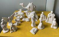 Vintage Nativity Figures Lot of Porcelain Ceramic Mini Figures