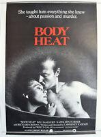 BODY HEAT (1980) Original One Sheet Film Poster - William Hurt,  Kathleen Turner