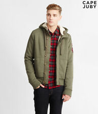 NWT Aeropostale Cape Juby Jacket Military Fur Full zip Hoodie M  Medium Men's