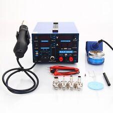 3in1 853D 110V Smd Rework Soldering Station Hot Air Gun + Dc Power Supply 15V 2A