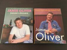 """""""Jamie's Dinners"""" & """"Happy Days w/ The Naked Chef"""" Jamie Oliver (Hardcovers)*GC*"""