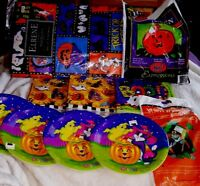 HALLOWEEN DECORATIONS, PLATES, NAPKINS & More, All New!!!