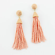 Boho Jewelry Handmade Seedbeads Tassel Earrings Beaded Chandelier Long Earrings