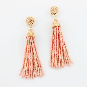 Boho Tassel Jewelry Acetate Bead Earrings Handmade Drop Statement Women jewelry