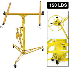 11ft Drywall Lift Plasterboard Panel Rolling Lifter Lockable Industrial Tool