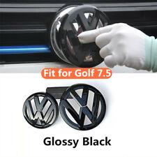 Glossy Black Front Rear Emblem Stickers Badge fit for VW  GOLF7.5 MK7.5 GTI TDI