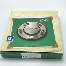 Hallmark Join the Caravan 2003 Miniature Ornaments with Display Base Z9