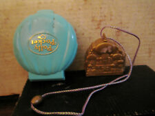 2  RARE HTF COLLECTABLE 1 VINTAGE 1989 POLLY POCKET & 1 DISNEY ALADIN SOLD AS IS