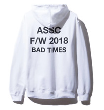 SMALL Anti Social Social Club Bad Times White Hoodie BRAND NEW 100% AUTHENTIC