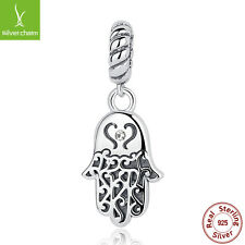 S925 Sterling Silver Jellyfish Dangle Pendant Charms Fit Necklace Chain Jewelry