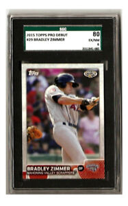 Bradley Zimmer 2015 Topps Pro Debut #29 SGC EX/NM 6 Cleveland Indians Mahoning