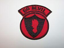 b8223 US Army Vietnam 3rd Brigade 9th Infantry Division Go Devils black emb