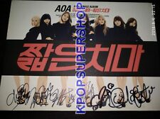 AOA Fifth Single Album Miniskirt Autographed Signed Cover CD Great Cond.