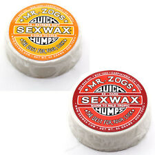 Sex Wax Quick Humps Surf Wax Pack of 2, 1x and 5x Mr. Zogs