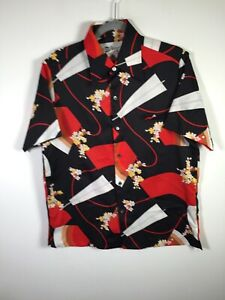 VINTAGE Tori Richard Honolulu mens patterned hawaiian button shirt size M