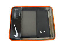 Nike Golf Wallet Mens Leather Billfold S600409 69576 Black/Gray New
