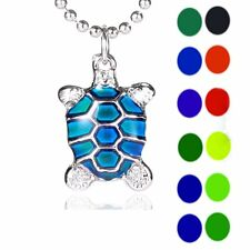 Turtle Sensitive Crystal Changing Color Thermo Mood Pendant Necklace Jewellery