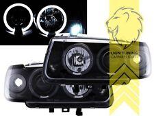 LED Angel Eyes Scheinwerfer für VW Polo 6N schwarz
