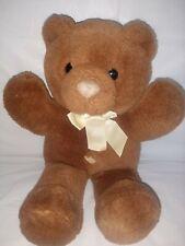 Vintage 1988 Dakin Playthings Soft Classics Brown Teddy Bear Heart belly button