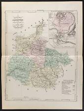 1855 - Carte ancienne du département des Ardennes, par Dufour
