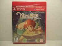 PS3 Playstation Ni No Kuni Wrath of the White Witch RPG OOP Greatest Hits NEW!