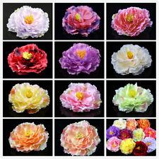 "Wholesale 4.7"" Fake Peony Large Artificial Silk Flower Heads Home Wedding Decor"