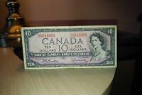 1954 $10 Dollar Bank of Canada Banknote EV0344609
