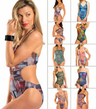 Kiniki Tan Through Women's Support-Thong-Cut Out-Tube Top Swimsuit/Costume