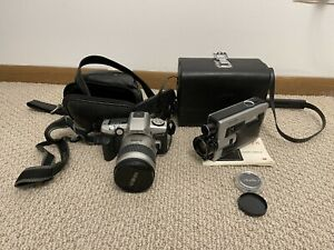 2 Vintage Minolta Cameras Z-8 Film Camera And 28-80 Regular Camera With Cases