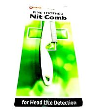 FINE TOOTHED METAL NIT NITTY HAIR COMB WITH HANDLE REMOVE HEAD LICE EGGS