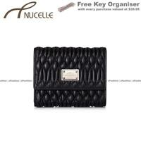 Ladies Womens Wallet Black Small Genuine Leather Purse Credit Card Holder Coins