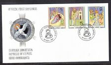 Cyprus 1991 Christmas First Day Cover