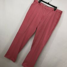 Peter Millar 38 Mens Pants Brushed Pink 38x34 Flat Front Cuff Pima Cotton Golf