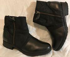 Clarks Black Ankle Leather Lovely Boots Size 5.5D (935vv)