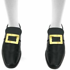 Skeleteen Colonial Shoe Buckle Accessories - Historical Gold Shoe Buckles 1 set