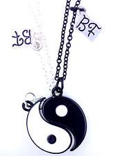 Deux parties aimant noir et blanc signe yin yang collier / colliers