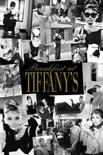 """Breakfast at Tiffany's movie poster 24x36"""" Audrey Hepburn Collage"""